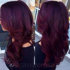 plum dark burgundy hair - Google Search