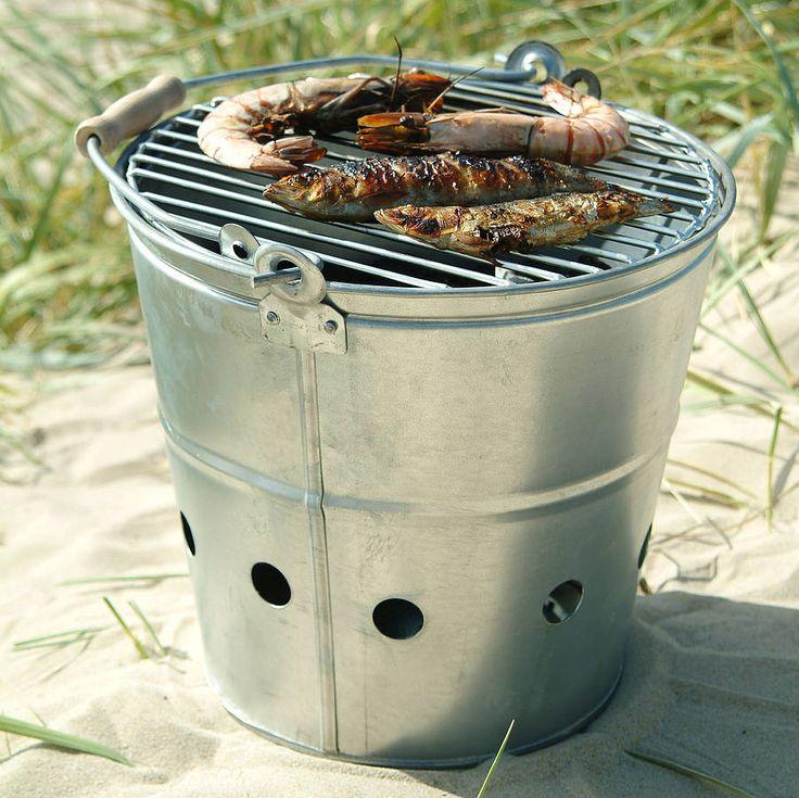 Steel Bucket BBQ