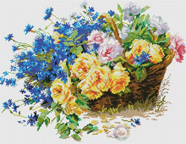 FLORAL COUNTED CROSSTITCH 4