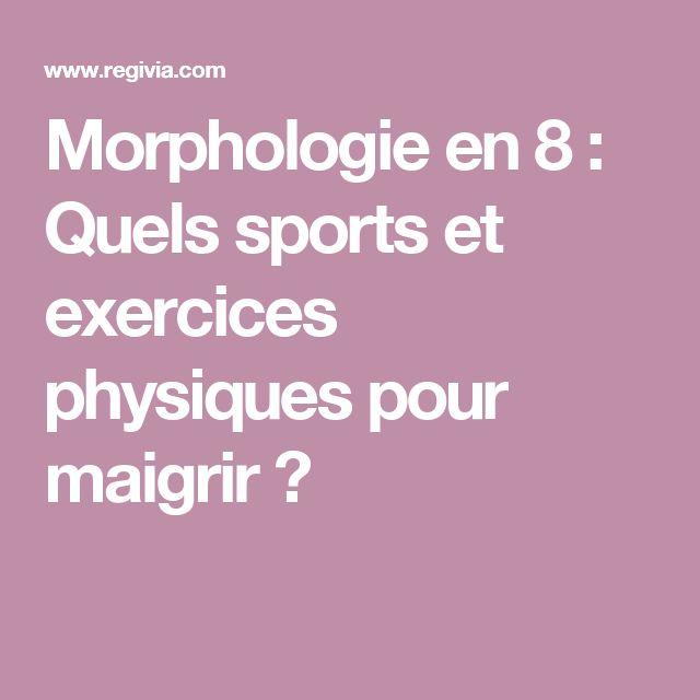 Morphologie en 8 : Quels sports et exercices physiques pour maigrir ?
