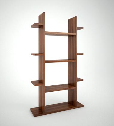 Modelo Cedar. Estantería de diseño modular, realizada con tablero melamínico de alta resistencia de 30 y 16 mm. Pensada para encajar en cualquier salón comedor. Muy versátil y de diseño ligero.