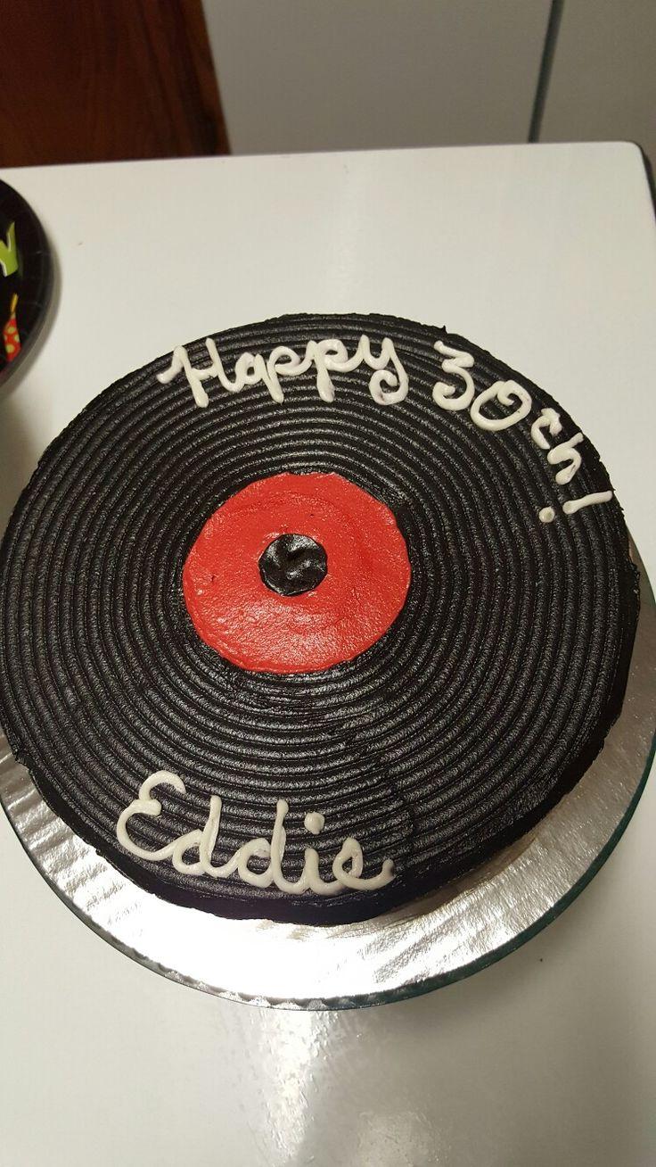 Vinyl Record Cake Record Cake 40th Birthday Cakes Birthday Cake Toppers