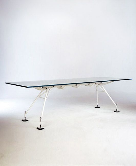 sir norman foster 1935 nomos table 1987 chair. Black Bedroom Furniture Sets. Home Design Ideas