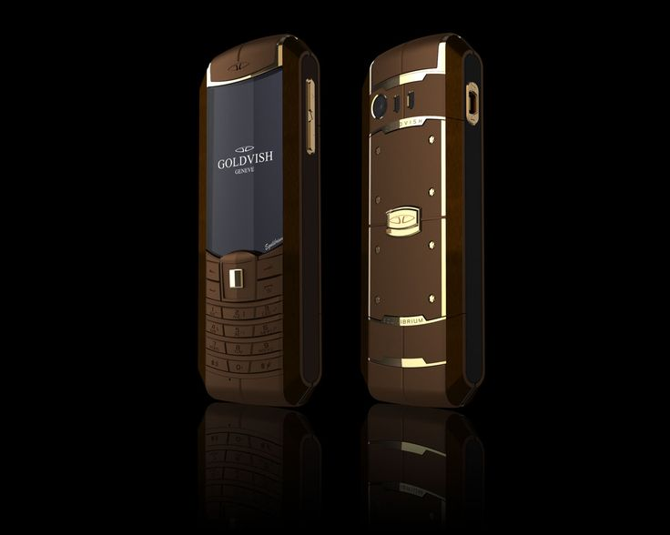 Goldvish Equilibrium - Chocolate Gold,   Chocolate brown metal with 18K Yellow Gold,  MSRP: €16.400,-