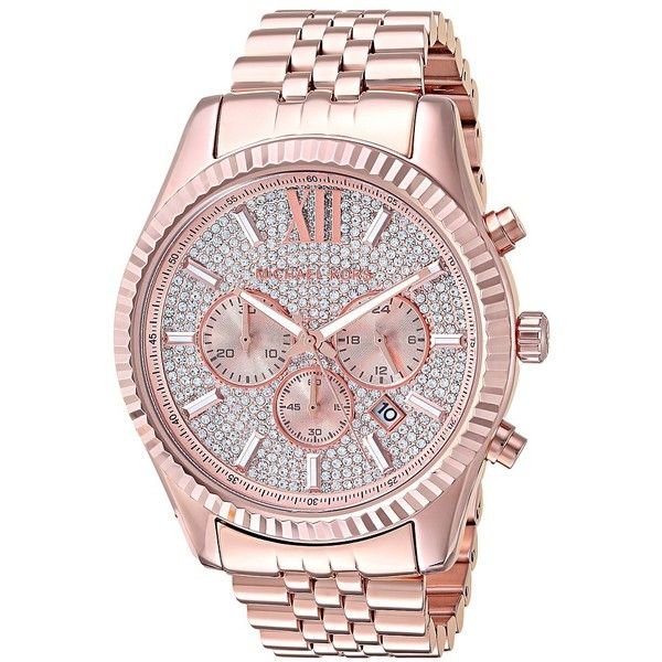 Michael Kors MK8580 - Lexington (Rose Gold) Watches ($350) ❤ liked on Polyvore featuring men's fashion, men's jewelry, men's watches, mens blue dial watches, mens rose gold watches, mens diamond bezel watches, mens analog watches and michael kors mens watches