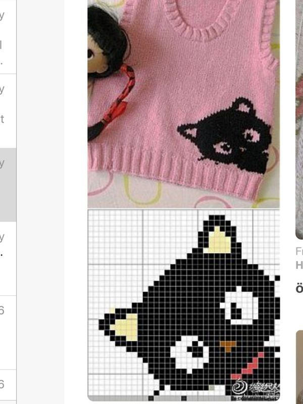 Cat graph for child's jumper