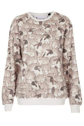 Bunny Print Sweatshirt by Tee and Cake