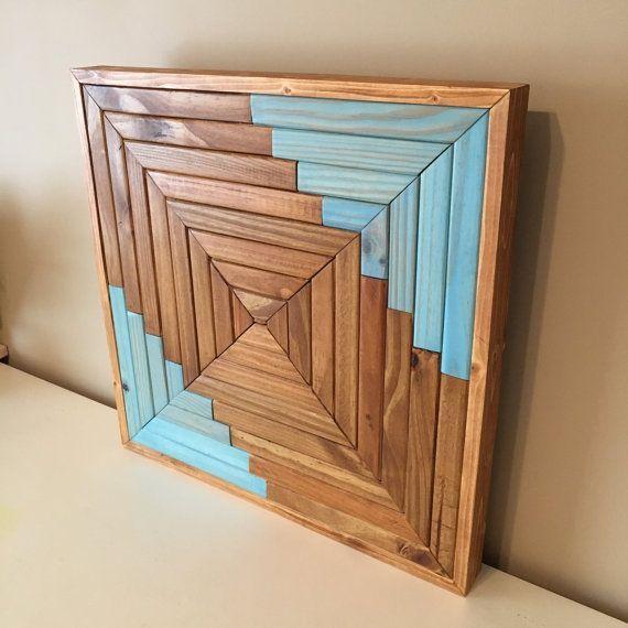 Custom Handmade Wooden Wall Art And Decor Approximately 22 X 22