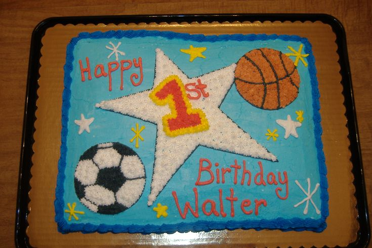 All Sports Birthday Cake | Sports Birthday Cake | KB Cakes & Creations