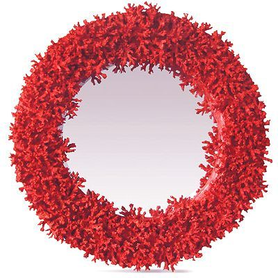 Red Coral wall mirror