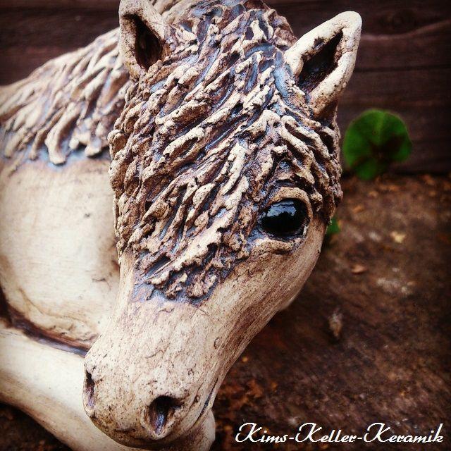 Pferd 19x8x8 cm von www.Kims-Keller-Keramik.de