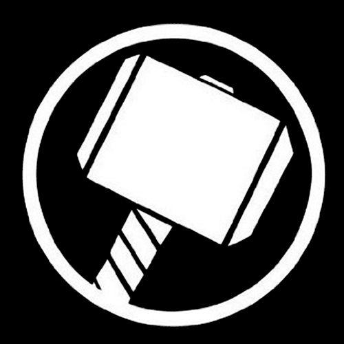 Thor - Hammer Logo Decal