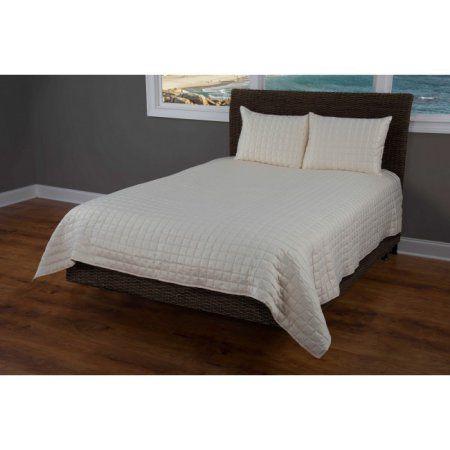Rizzy Home Satinology Cream Bedding Set 90 inch x 92 inch, Beige