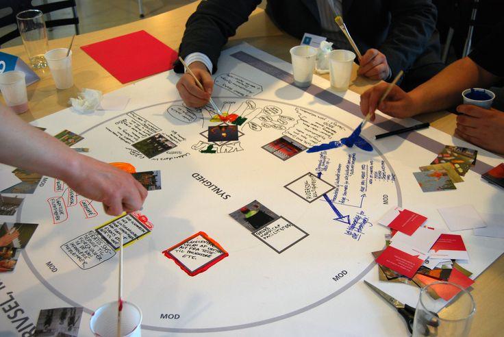 Bürger aus verschiedenen Altersstufen, mit unterschiedlichen Interessen und Herkünften  erarbeiten, wie man Kulturpolitik in Rudersdal konkret umsetzen könnte.