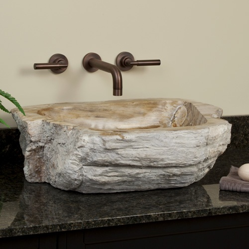 Beldare Petrified Wood Vessel   Signaturehardware.com 23 1/8L X 17 7/