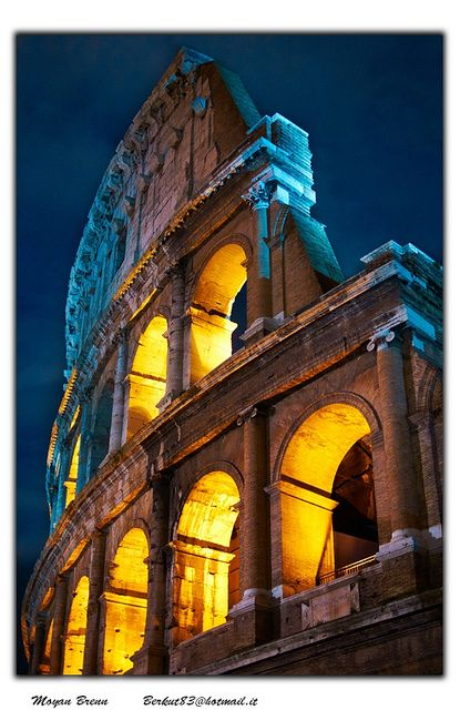 Rome, Italy.  The Colosseum, also known as Flavian Amphitheatre.