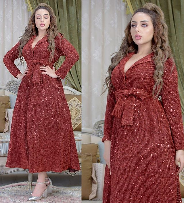 Pin By Dahab Baba Hamed On Broderie Et Couture Dresses Fashion Long Sleeve Dress