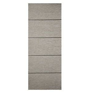 Wickes Milan Internal 4 Line Horizontal Light Grey Real Wood Veneer Door 1981x762mm | Wickes.co.uk