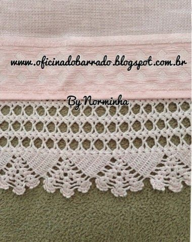 OFICINA DO BARRADO: Croche - Renovando o Barrado...