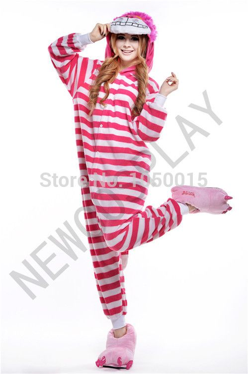 Cheap pajamas sleepwear, Buy Quality costume dancewear directly from China pajamas jumpsuit Suppliers: New Cheshire Cat Costume Onesie Hooded Animal Pajamas Adults Cosplay Anime Costumes One Piece Fleece Pajama   Features: