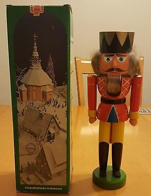 GERMAN NUTCRACKER NUSSKNACKER ERZGEBIRGE VINTAGE WITH BOX