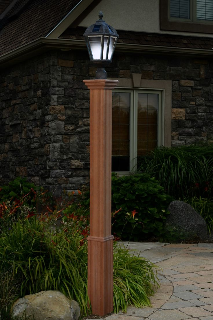 lamp is not included can sleeve over existing unsightly wood or metal posts can accommodate solar or wired lamps