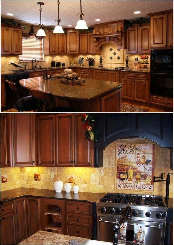 Cabinet Stain Countertops Floor Color Island Will Be White With Dark Top Backsplash Ceiling Height Looks The Same Tuscandecor