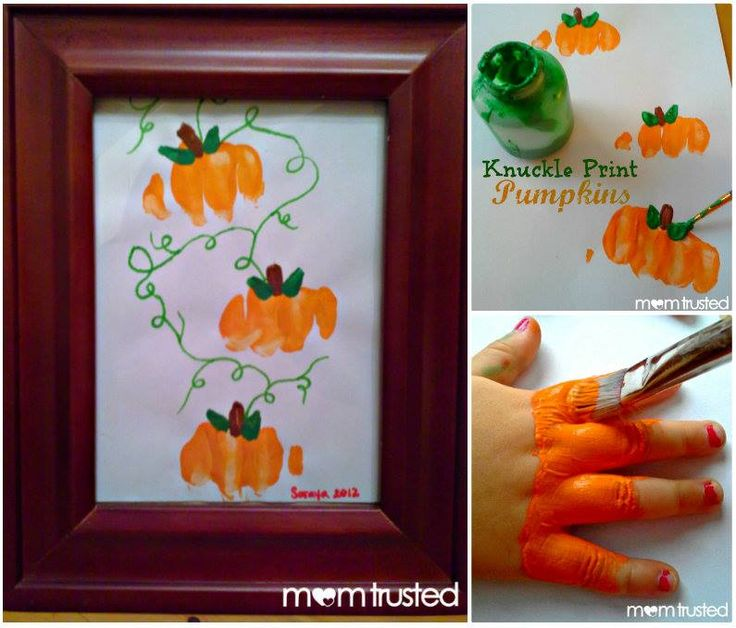 these knuckle print pumpkins are button cute and a fun project to make with the kids mom trusted making pumpkin prints with your knuckles visited 414