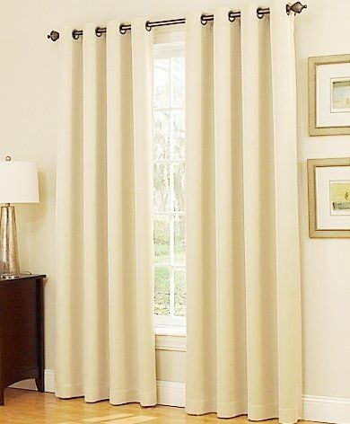 """Gorgeous Home DIFFERENT SOLID COLORS & SIZES (#72) 1 PANEL SOLID THERMAL FOAM LINED BLACKOUT HEAVY THICK WINDOW CURTAIN DRAPES BRONZE GROMMETS (IVORY BEIGE 63"""" LENGTH)"""