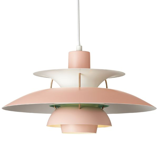 PH 5 pendant, rosa/army green The colors give this fixture a completely new life..