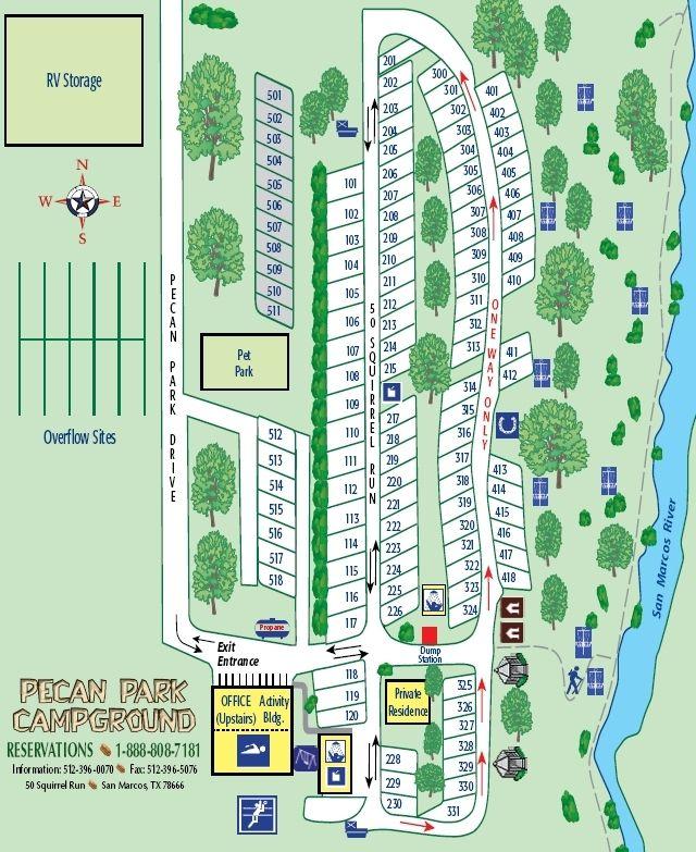 Rv Park Near Aquarena Springs In San Marcos One Site Said