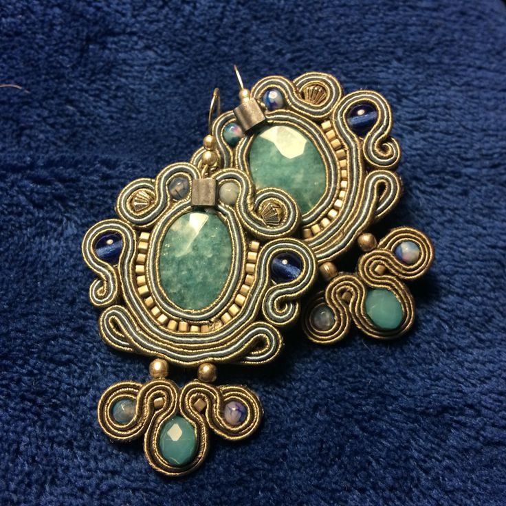 Soutache earrings by LORETTA C