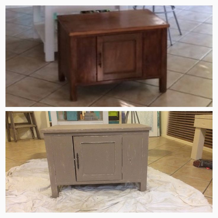 An old side table that had been in a family members house for over 10 years and was ready for the tip was given a new lease on life with a coat of white paint, followed by a coast of beige paint, with some sanding back to reveal the white underneath.