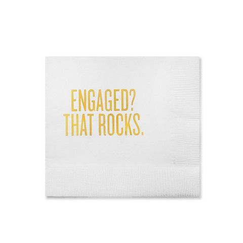 Need to send a quick engagement present? These cocktail napkins are perfect…