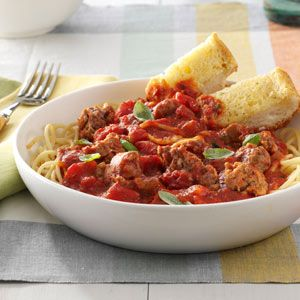 Slow-Simmering Pasta Sauce Recipe from Taste of Home