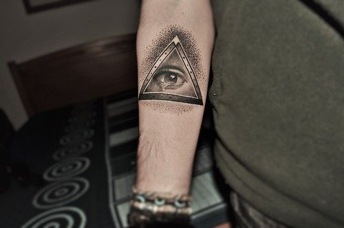 impossible triangle with eye tattoo - Google Search