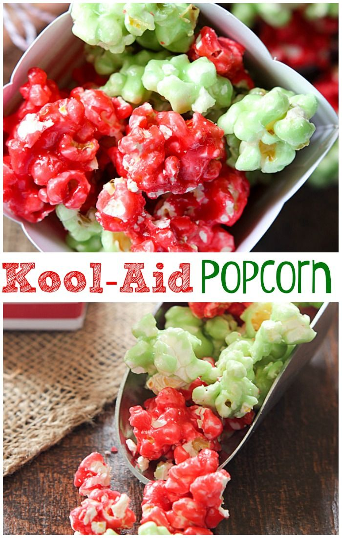 This Kool-Aid Popcorn is such a fun and tasty treat. Change up the colors for any occasion by simply using different flavors of Kool-Aid. The kids will eat it up. Adults, too!