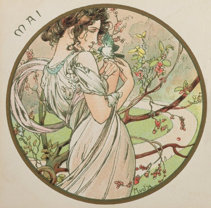 The Months - May 1899 by Alphonse Mucha