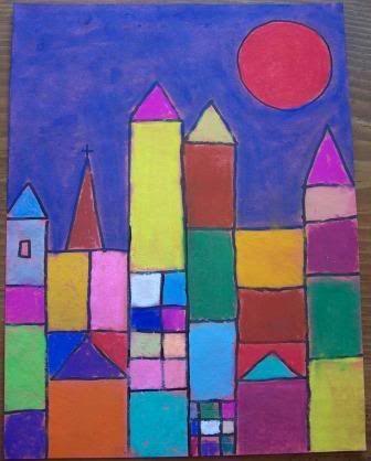 cubist landscapes a la Paul Klee