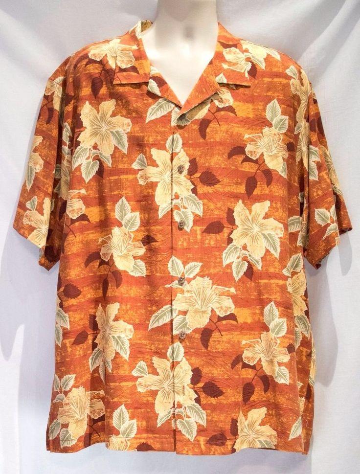 Hawaiian Shirt 100 Silk Tommy Bahama Aloha Camp Shirt