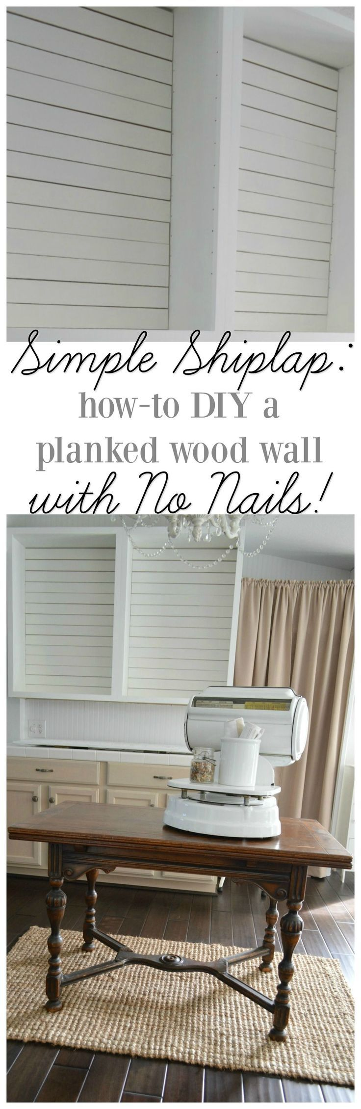 Simple Shiplap: How To DIY a Planked Wall with No Nails