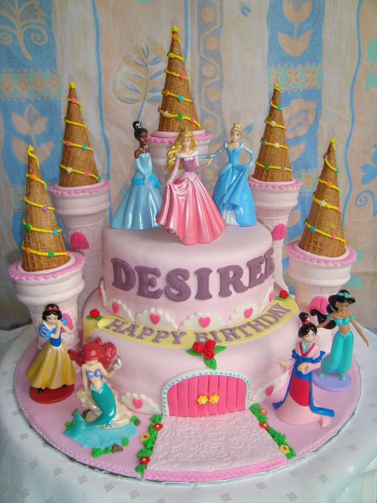 Disney Princess Cakes For Girls | Yummy Baking: Princess Castle Fondant Cake (D1)