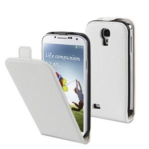 Funda Slim Blanca + protector de pantalla Samsung I9500 Galaxy S4 Muvit