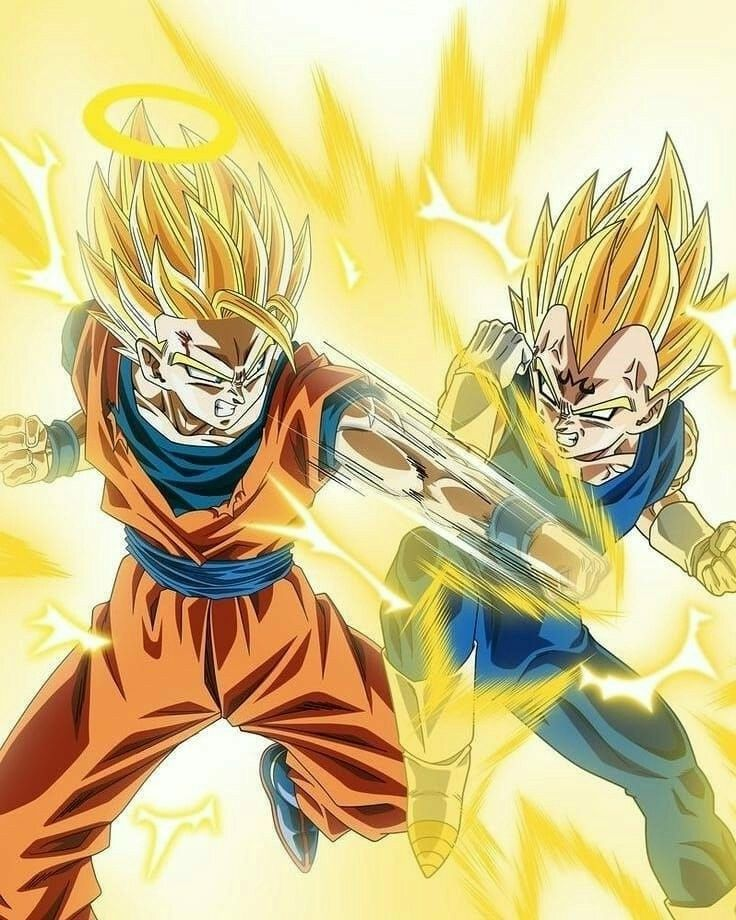 Goku Vs Majin Vegeta Dragon Ball Super Dragon Ball Goku Vs Goku