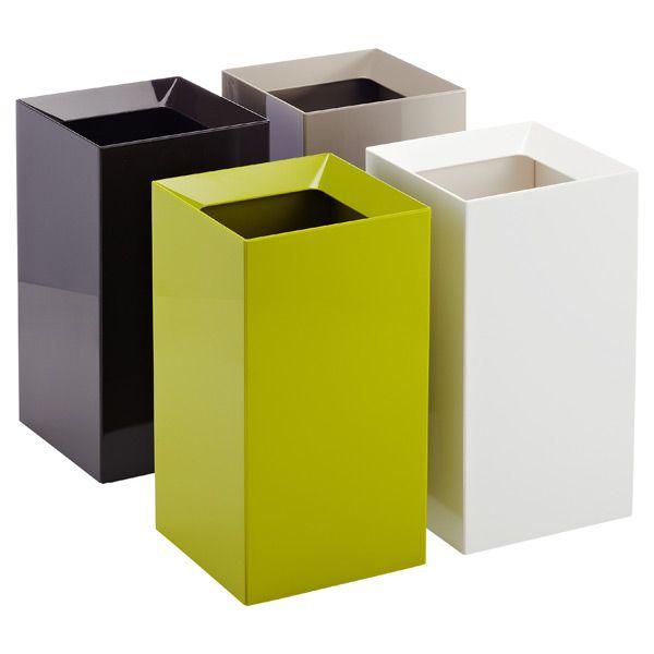 Yamazaki White Veil Trash Can