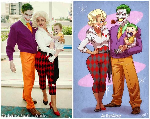The Joker, Harley Quinn and Baby Jack!