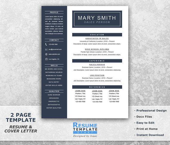 Mer enn 10 bra ideer om Cover letter template word på Pinterest - simple one page resume template