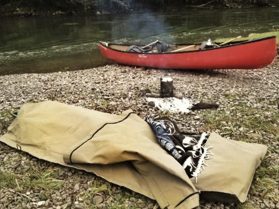 how to carry a tent on canoe trip