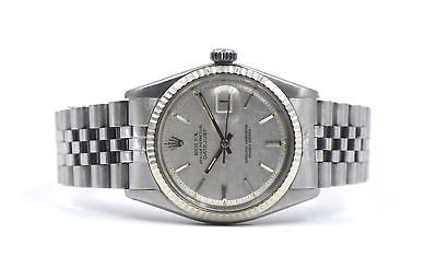 ROLEX 1601 OYSTER PERPETUAL DATEJUST PIE PAN DIAL STAINLESS GENTS WATCH 1978