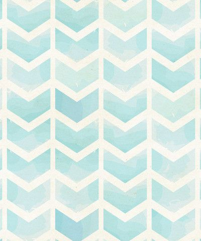 Blue Watercolor Chevron Original - rock the drops